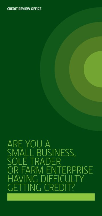Credit Appeals Agency Brochure - Business Banking