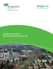 Guidelines for Development Near Overhead Transmission Lines in BC