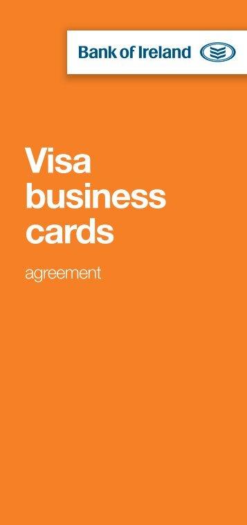 Visa business cards - Business Banking - Bank of Ireland