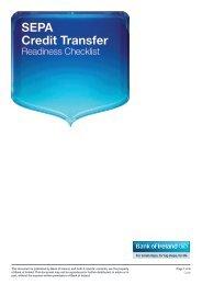 SEPA Credit Transfer Readiness Checklist PDF - Business Banking