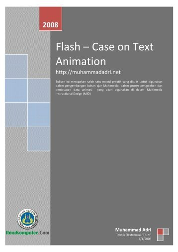 Flash – Case on Text Animation