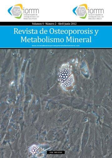 Nº 2 Español - Revista de Osteoporosis y Metabolismo Mineral
