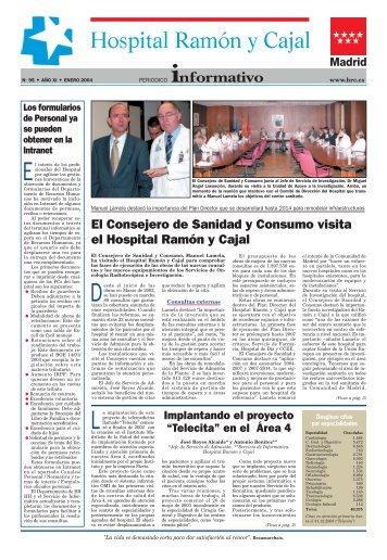 El Consejero de Sanidad y Consumo visita el Hospital Ramón y Cajal