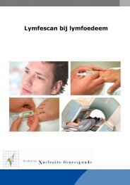 Lymfescan (lymfoedeem) armen of benen - Instituut Verbeeten