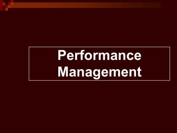 Performance Management - ATI