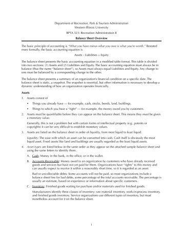 Balance Sheet Overview - Jhemingway.net