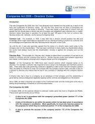Companies Act 2006 – Directors' Duties