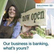 Our business is banking, what's yours? - Bank of Ireland
