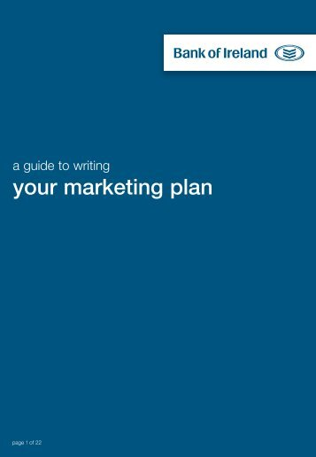 your marketing plan - Business Banking - Bank of Ireland