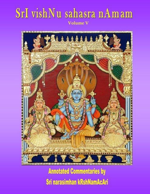 Vishnu Sahasra Naamam-Vol V-Rr-edit pub - Ahobilavalli
