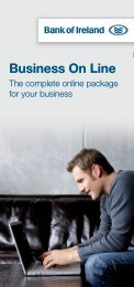 Business On Line - Business Banking - Bank of Ireland