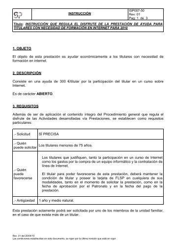 INTERNET 2010 WEB - Fundación Laboral San Prudencio