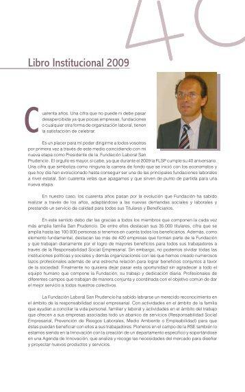 Libro Institucional 2009 - Fundación Laboral San Prudencio