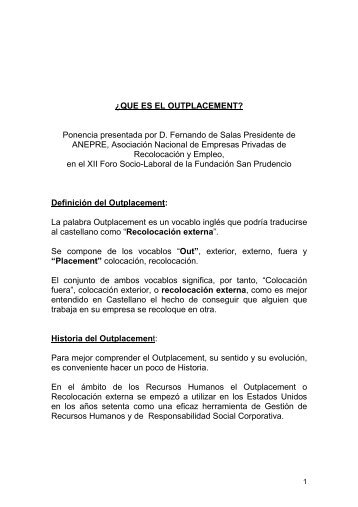 Ponencia Fernando de Salas - Fundación Laboral San Prudencio