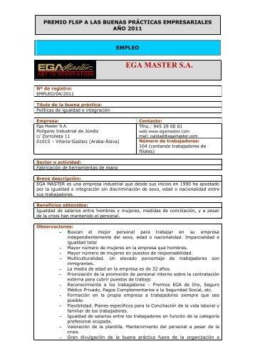 Ega Master S.A. - Fundación Laboral San Prudencio