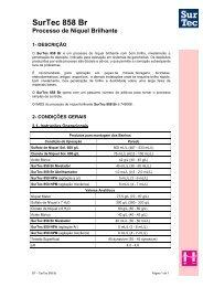 SurTec 858 Br Processo de Níquel Brilhante - Surtec do Brasil