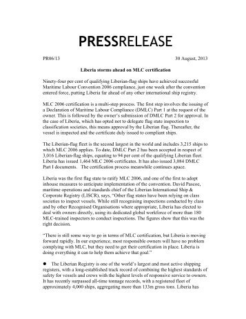 PRESSRELEASE - liscr