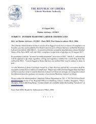 Interim Maritime Labour Certificates - liscr