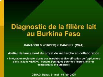 Diagnostic de la filière lait au Burkina Faso - REPOL