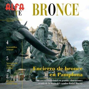 Encierro de bronce en pamplona Encierro de bronce en ... - Alfa Arte