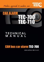 TEC-700 & 710 Technical Manual - CAN-bus alarm and interface ...