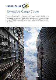 Extended Cargo Cover - UK P&I Members Area