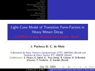 Light-Cone Model of Transition Form-Factors in Heavy Meson Decay
