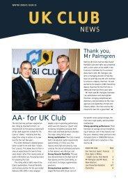 AA- for UK Club - UK P&I Members Area