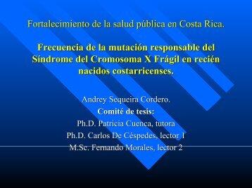 Frecuencia de la mutación responsable del síndrome del ...