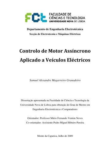 Controlo de Motor Assíncrono Aplicado a Veículos ... - Mário Loureiro