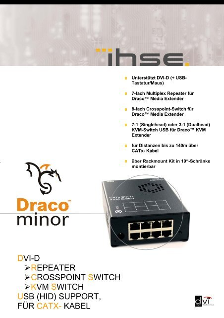 DVI-D REPEATER CROSSPOINT SWITCH KVM SWITCH USB (HID ...