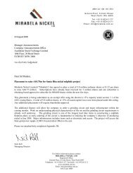 Manager Announcements Company ... - Mirabela Nickel