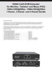 SDBX-Cat5-KVM-Extender für Monitor, Tastatur und Maus (PS2 ...