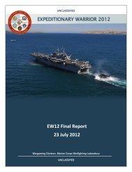 USMC Expeditionary Warrior 2012 Report - Defense Innovation ...