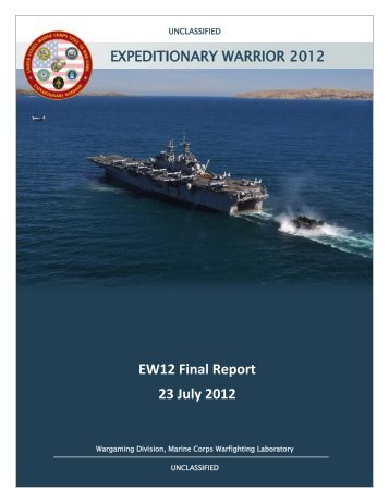 USMC Expeditionary Warrior 2012 Report - Defense Innovation ...