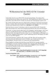 Willkommen bei der DSXi KVM- Extender Familie!