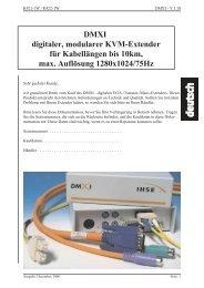 DMXI digitaler, modularer KVM-Extender für Kabellängen bis 10km ...