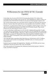 Willkommen bei der DXXi KVM- Extender Familie!