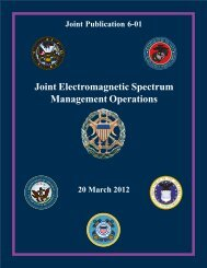 JP 6-01, Joint Electromagnetic Spectrum Management Operations