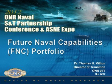 Future Naval Capabilities Portfolio - Defense Innovation Marketplace