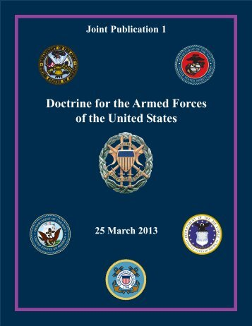 JP 1, Doctrine for the Armed Forces of the United States - Defense ...