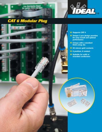 CAT 6 Modular Plugs Brochure - Ideal Industries Inc.