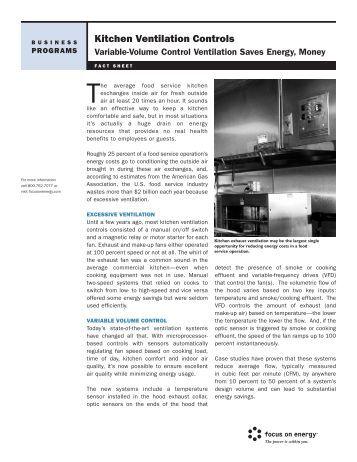 Kitchen Ventilation Systems Greenheck