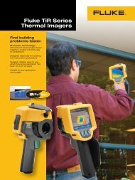 Fluke TiR Series Thermal Imagers - Sitel