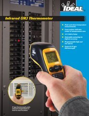 Infrared (IR) Thermometer Brochure - Ideal Industries Inc.