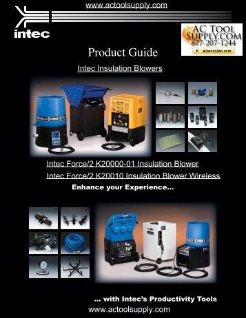 Intec Insulation Blower Brochure - Actoolsupply.com