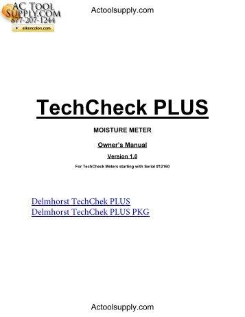 Tech Check Plus vs 1.0 feb-10 - Actoolsupply.com