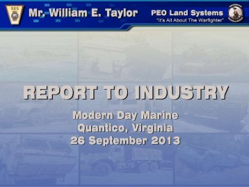 2013 Modern Day Marine Brief to Industry - Defense Innovation ...