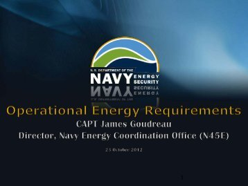 Naval Operational Energy Requirements - Defense Innovation ...