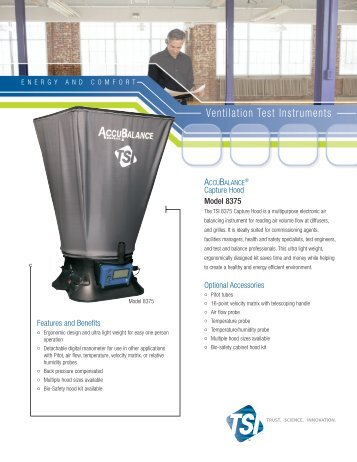 8375M AccuBalance Capture Hood - Technical Description - Fresh Air